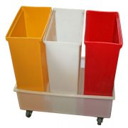 IB-348 - IB Series Triple Eleven-Gallon Ingredient Bins with Dolly
