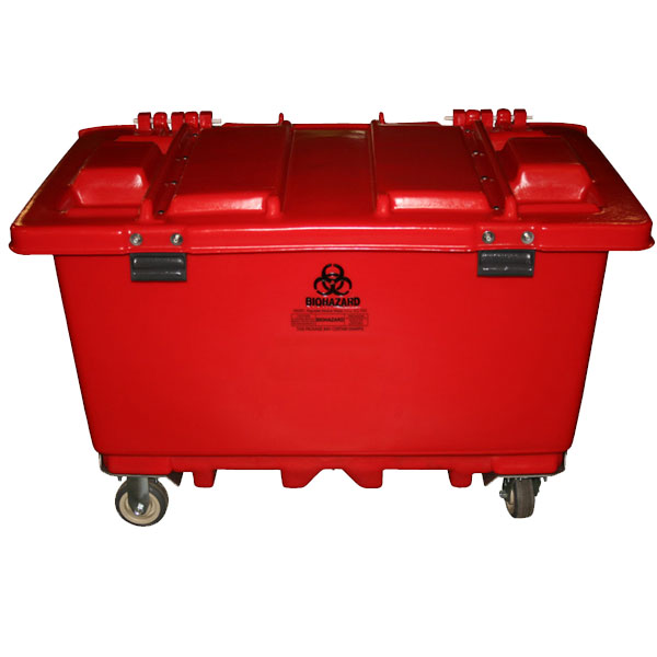 MW-151 - MW Series 150 Gallon Regulated Medical Waste Cart - 46 x 25 x 25