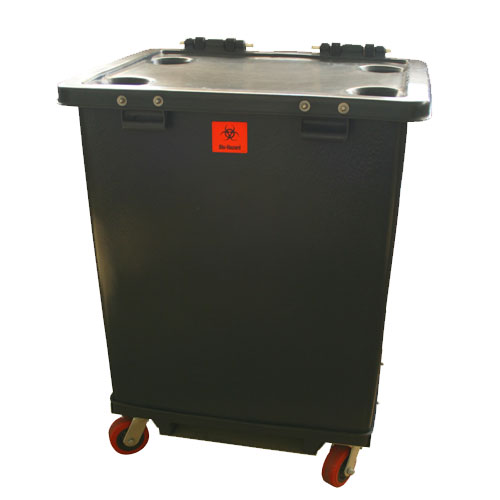 MW-161 - MW Series 160 Gallon Regulated Medical Waste Cart - 32 x 26.5 x 45.5